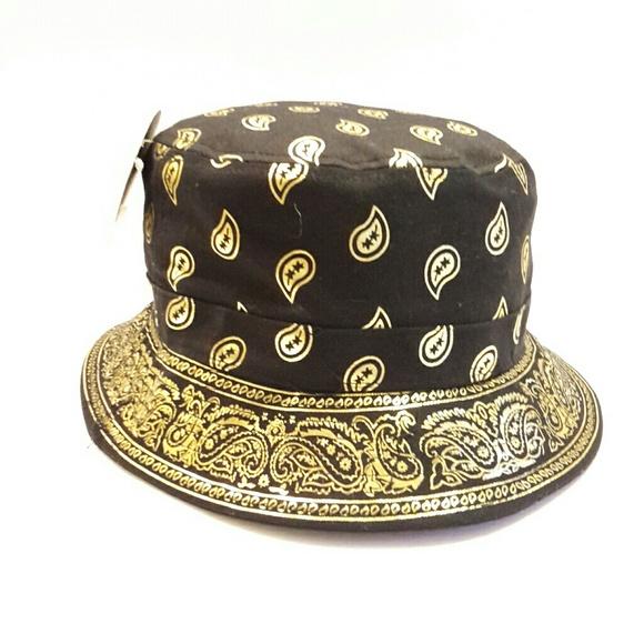 de0fc0259cb KB Premium Gold Paisley Bucket Hat 11